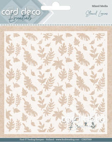 Card Deco Mixed Media Stencil Leaves (CDEST009)