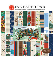 Carta Bella Summer Camp 6x6 Inch Paper Pad (CBSC119023)