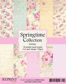 Reprint Springtime Collection 6x6 Inch Paper Pack (RPP029)