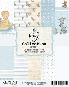 Reprint It´s a Boy Collection 6x6 Inch Paper Pack (RPP031)