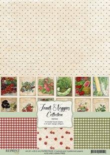 Reprint Fruits & Veggies Collection A4 Paper Pack (RBP004)