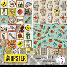 Ciao Bella Papercrafting Hipster 12x12 Inch Patterns Pad (CBT035)
