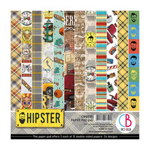 Ciao Bella Papercrafting Hipster 6x6 Inch Paper Pad (CBQ035)