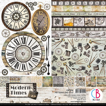 Ciao Bella Papercrafting Modern Times 12x12 Inch Paper Pad (CBPM036)