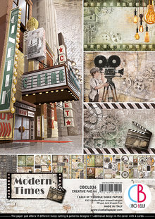 Ciao Bella Papercrafting Modern Times A4 Creative Pad (CBCL036)