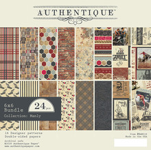 Authentique Manly 6x6 Inch Paper Pad (MAN010)