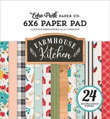 Echo Park Farmhouse Kitchen 6x6 Inch Paper Pad (FK216023)