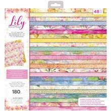 Crafter's Companion Lily 12x12 Inch Paper Pad (NG-LILY-PAD12)