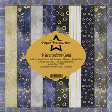 Paper Favourites Watercolour Gold 6x6 Inch Paper Pack (PF132)