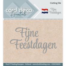 Card Deco Snijmal Fijne Feestdagen (CDECD0035)