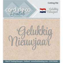 Card Deco Snijmal Gelukkig Nieuwjaar (CDECD0036)