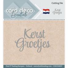 Card Deco Snijmal Kerst Groetjes (CDECD0037)