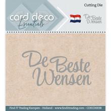 Card Deco Snijmal De Beste Wensen (CDECD0038)