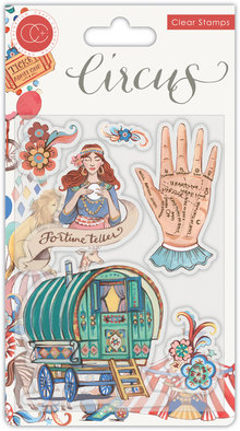 Craft Consortium Circus Fortune Teller Clear Stamps (CCSTMP034)
