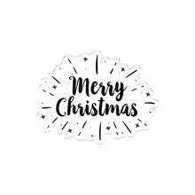 Crafter's Companion Modern Merry Christmas Clear Stamp (CC-CA-ST-MMC)
