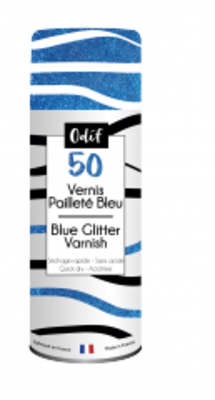 Odif Glitter Varnish 50 Blue (125ml) (43622)