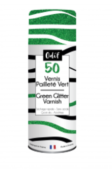 Odif Glitter Varnish 50 Green (125ml) (43611)