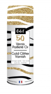 Odif Glitter Varnish 50 Gold (125ml) (43215)