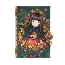 Gorjuss Lockable Journal With Heart Shaped Lock Autumn Leaves (815GJ05)