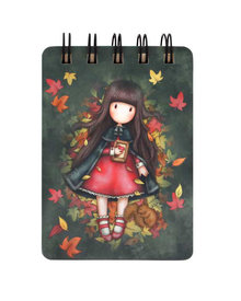 Gorjuss Mini Wiro-Bound Notebook Autumn Leaves (598GJ16)