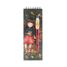 Gorjuss Jotter Pad With Pen Autumn Leaves (799GJ14)