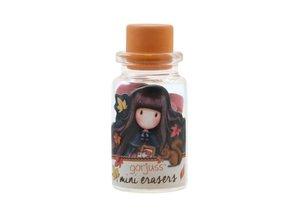 Gorjuss Mini Erasers In Glass Bottle Autumn Leaves (590GJD01)