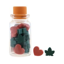 Gorjuss Mini Erasers In Glass Bottle Autumn Leaves (590GJD01)