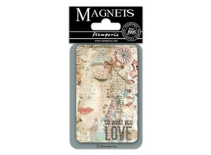 Stamperia Imagine Do What You Love 8x5.5cm Magnet (EMAG021)