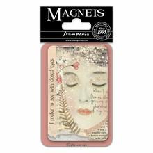 Stamperia Imagine Closed Eyes 8x5.5cm Magnet (EMAG022)