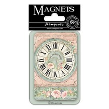Stamperia House of Roses Clock 8x5.5cm Magnet (EMAG025)