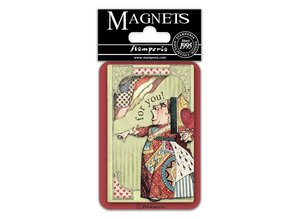 Stamperia Alice King of Hearts 8x5.5cm Magnet (EMAG031)