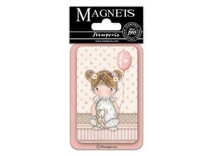 Stamperia Little Girl Balloon 8x5.5cm Magnet (EMAG040)