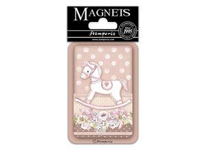 Stamperia Little Girl Rocking Horse 8x5.5cm Magnet (EMAG041)