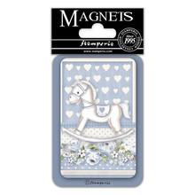 Stamperia Little Boy Rocking Horse 8x5.5cm Magnet (EMAG043)
