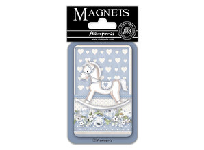Stamperia Little Boy Rocking Horse 8x5.5cm Magnet (EMAG043)
