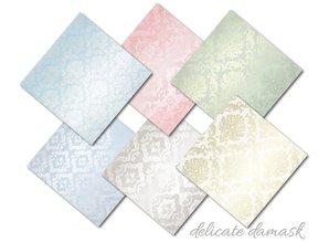 Decorer Delicate Damask 8x8 Inch Paper Pack (DECOR-B30-428)