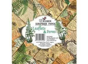 Decorer Leaflets & Ferns 8x8 Inch Paper Pack (DECOR-B31-429)