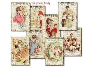 Decorer The Growing Family Paper Pack  (7x10,8cm) (DECOR-M79)