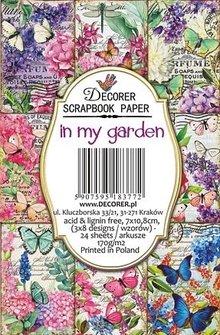 Decorer In My Garden Paper Pack  (7x10,8cm) (DECOR-M82)