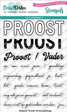 CarlijnDesign Clear Stamps Proost (CDST0048)