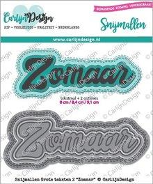 CarlijnDesign Snijmal Grote Teksten 2 Zomaar (CDSN-0050)