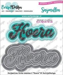 CarlijnDesign Snijmal Grote Teksten 2 Hoera (CDSN-0051)