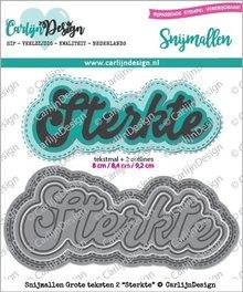 CarlijnDesign Snijmal Grote Teksten 2 Sterkte (CDSN-0052)