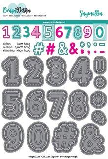 CarlijnDesign Snijmal Outline Cijfers (CDSN-0056)