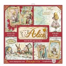 Stamperia Alice 12x12 Inch MAXI PAD (SBBXLB08G)