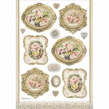 Stamperia Rice Paper A4 Princess Frames (DFSA4482)