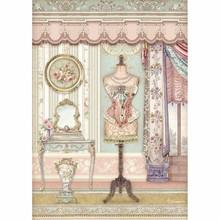 Stamperia Rice Paper A4 Princess Mannequin (DFSA4483)