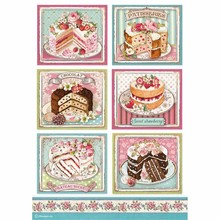 Stamperia Rice Paper A4 Sweety Patisserie (DFSA4500)