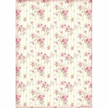 Stamperia Rice Paper A4 Sweety Rose Wallpaper (DFSA4505)