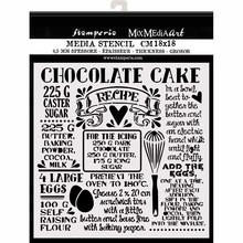 Stamperia Media Stencil Chocolate Cake (KSTDQ59)